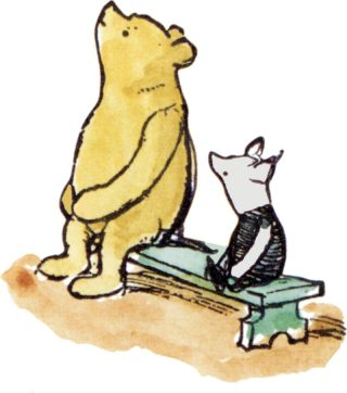 Line illustrations copyright © E.H. Shepard.  Colouring of the illustrations by Mark Burgess. Copyright © 1989 Egmont UK Limited.  Reproduced with permission of Curtis Brown Group  Limited, London on behalf of The Shepard Trust.