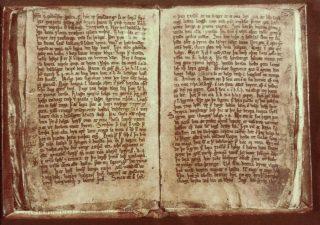 De Codex Regius (de koninklijke codex), IJslands perkamenten handschrift waarin de Poëtische Edda bewaard is gebleven.
