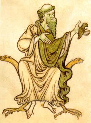 De heilige Kevin van Glendalough