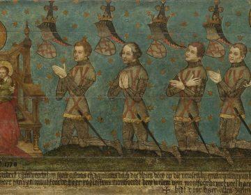 'De heren van Montfoort' - Het op een na oudste schilderij van Nederland (Rijksmuseum)