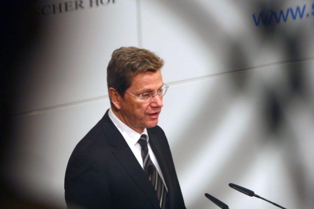Guido Westerwelle als minister van Buitenlandse Zaken (cc - Harald Dettenborn)