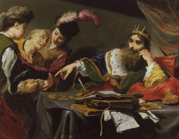 Koning Croesus volgens Claude Vignon - Musée des Beaux-Arts de Tours