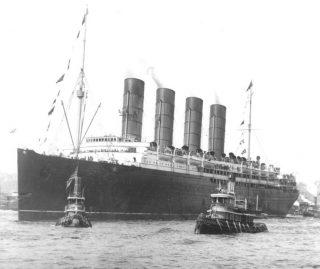 De  SS Lusitania in 1907