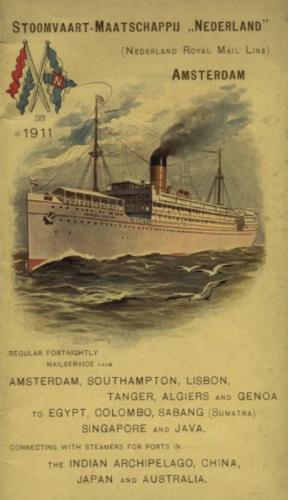 Boekje van de SMN uit 1911, enkele jaren voor het uitbreken van de Eerste Wereldoorlog. Bron: Wikimedia Commons
