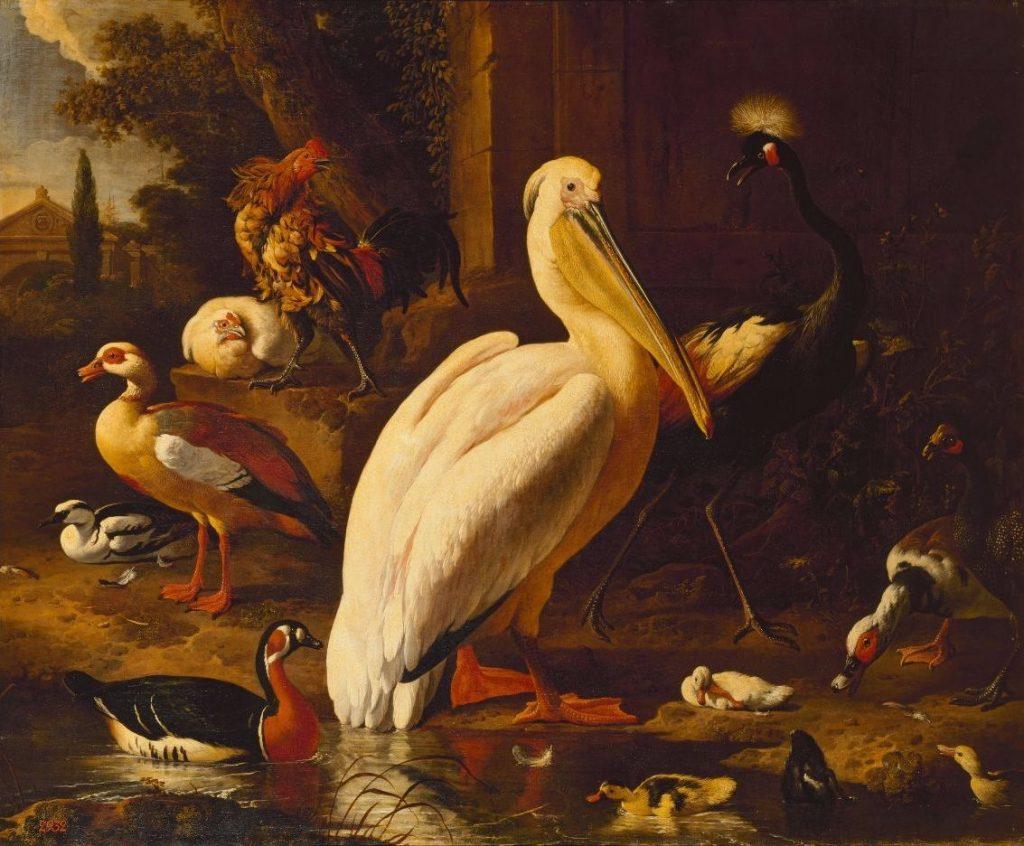 Melchior de Hondecoeter, Vogels in een park, 1686 © State Hermitage Museum, St Petersburg