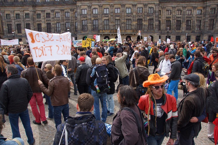 Amsterdam 25 mei 2013 protest tegen Monsanto