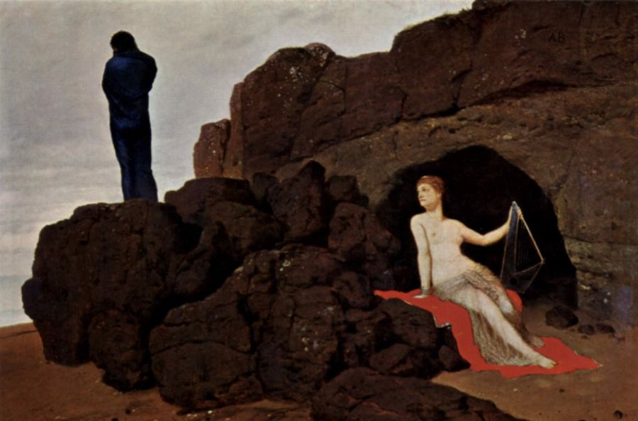 Odysseus en Kalypso (Arnold Böcklin, 1883, Kunstmuseum Basel)