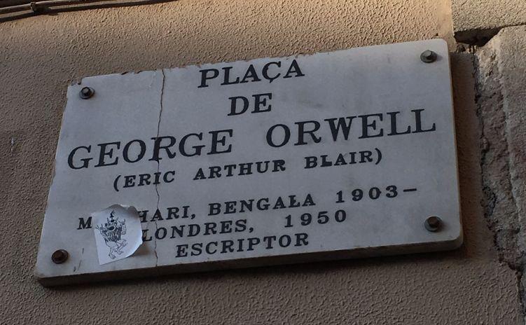 Plein in Barcelona vernoemd naar George Orwell (cc - victorgrigas)