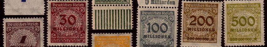 Postzegels uit de tijd van de Weimarrepubliek