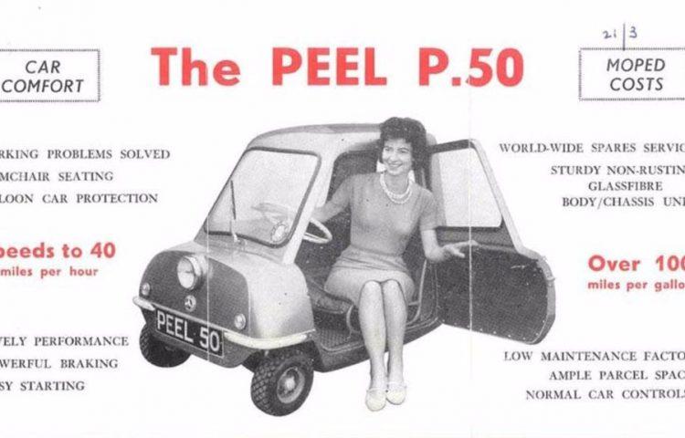 Reclame voor de Peel P50
