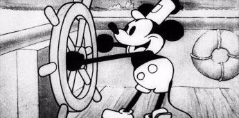 'Steamboat Willie', een van de eerste tekenfilms met geluid
