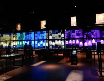 Digitale wand in de Canon-presentatie in het Openluchtmuseum in Arnhem