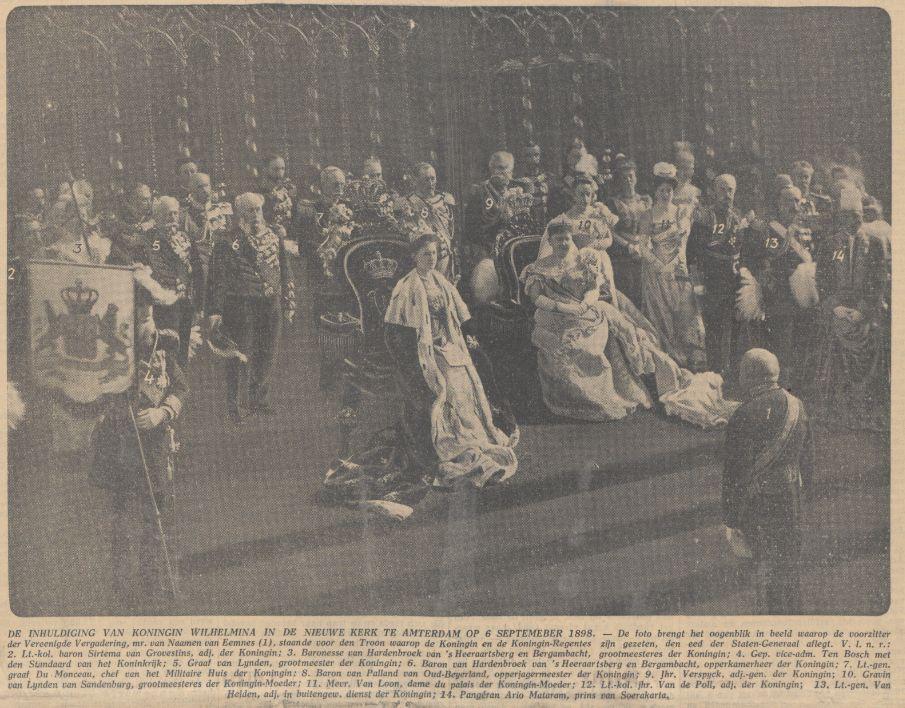 Inhuldiging van koningin Wilhelmina (Algemeen Handelsblad, 06-09-1933 - Delpher)