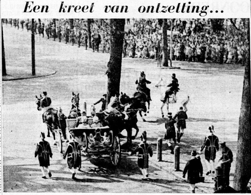 De Telegraaf over het incident met de Crème Calèche op Prinsjesdag 1963 (18-09-1963, Delpher)