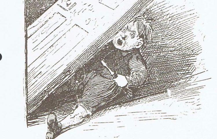 """Afbeelding uit """"Voor t jonge volkje"""" over de luie Gijs"""