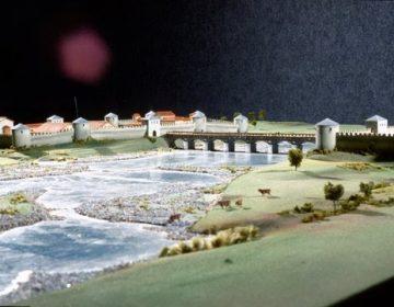 Maquette van de Romeinse brug bij Maastricht afbeelding (gemeente Maastricht)