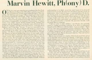 Artikel in LIFE over Marvin Hewitt