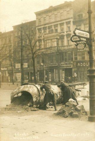 Barrikades in Berlijn bij de Spartacusopstand
