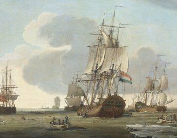 De Groenlandvaarder 'Zaandam' van rederij Claes Taan en Zn, Zaandam, op de walvisvangst, 1772, Jochem de Vries.