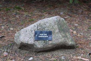 Een van de vele stenen in de Herinneringslaan