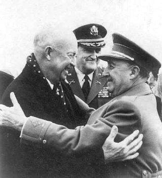Eisenhower en Franco, Madrid 1959