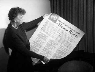 Eleanor Roosevelt  en de Universele Verklaring van de Rechten van de Mens