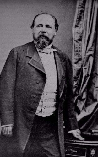 Fotoportret van Willem III uit 1870