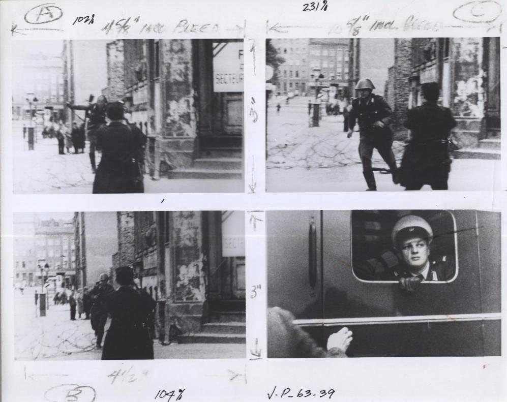 Foto's van de sprong van Conrad Schumann (CIA)