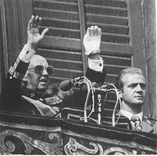 Franco en Juan Carlos in 1975
