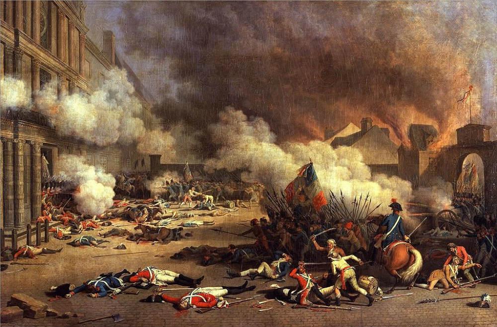 Franse Revolutie - Bestorming van de Tuileriën, 10 augustus 1792 (Jean Duplessis-Bertaux)