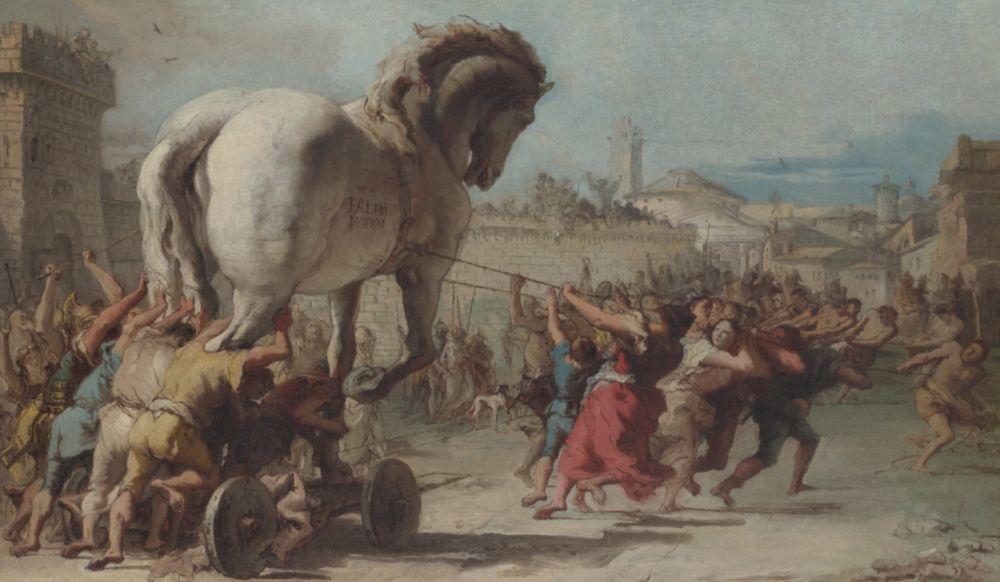 Het Paard van Troje - Giovanni Domenico Tiepolo