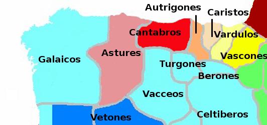 Iberische stammen in het noorden van Spanje