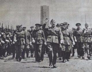 Inauguratie van het monument voor Emilio Mola in 1939