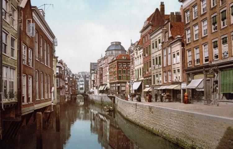 Oude foto van Rotterdam