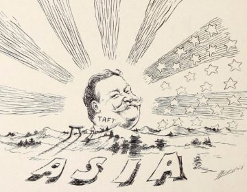 Politieke cartoon over William Howard Taft, 'uitvinder' van de 'dollardiplomatie' (wiki)