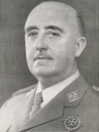 Portret van Francisco Franco