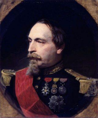 Portret van Napoleon III in 1868, door Adolphe Yvon
