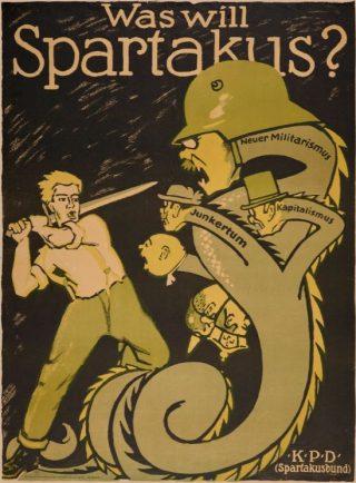 Poster van de Spartakusbond