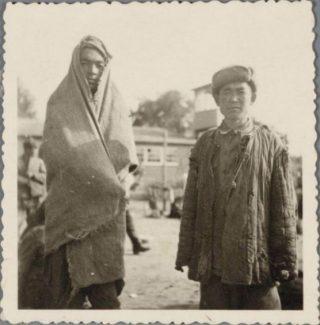 Russische krijgsgevangenen in het kamp in 1941 (Archief Eemland)