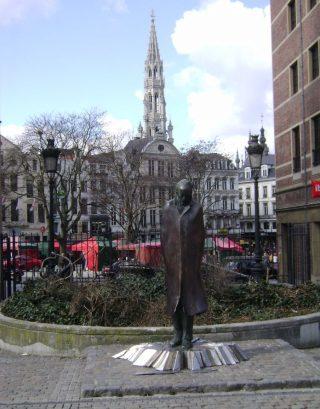 Standbeeld van Béla Bartok in Brussel, gemaakt door Imre Varga (cc)