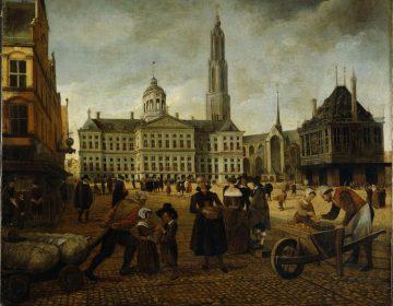 De Nieuwe Kerk met de toren erachter die nooit gebouwd werd.