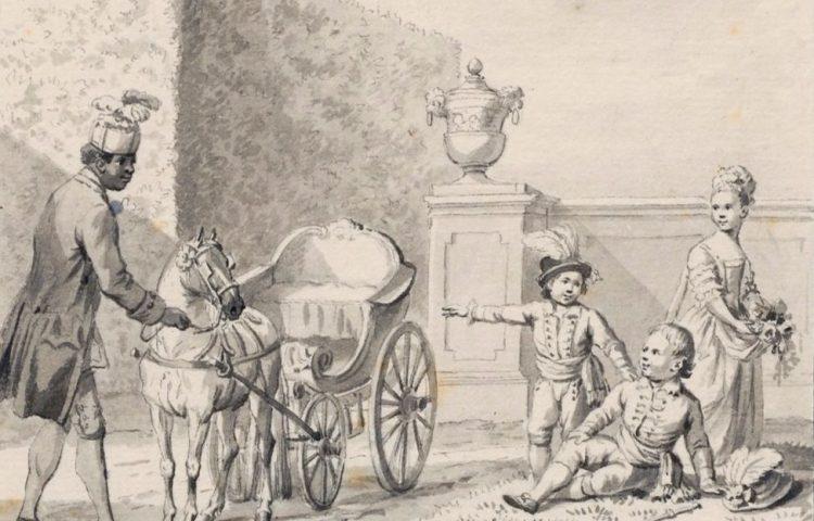 De kinderen van Willem V, pentekening, Bijzondere Collecties, Universiteitsbibliotheek Leiden (HHM)