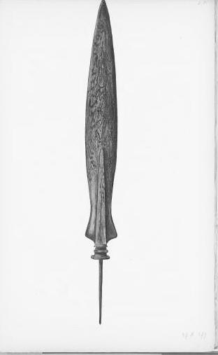 Javaanse lans, circa 1890 (KITLV)