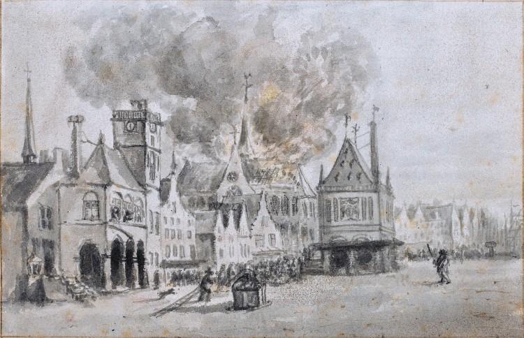Brand in de Nieuwe Kerk, 1645