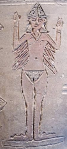 Afbeelding van Isjtar op een vaas