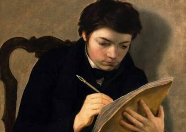 Antoine Wiertz - Zelfportret op 18-jarige leeftijd (1824)