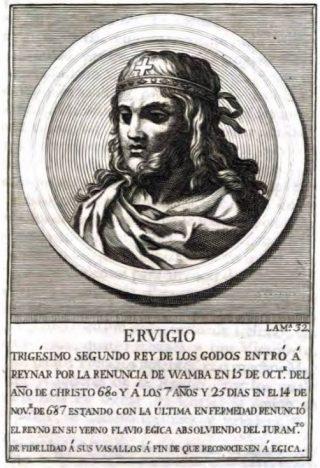 De Visigotische koning Ergica