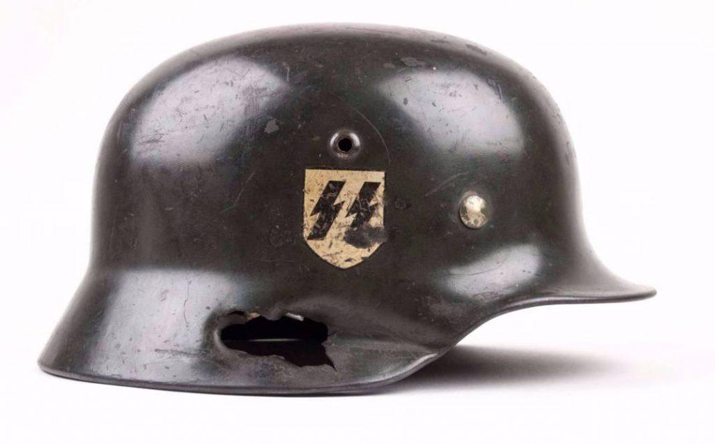 De helm van Heinz Harmel (Foto: fjm44 - Airborne Museum)