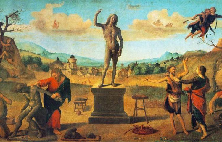 De mythe van Prometheus door Piero di Cosimo, 1515