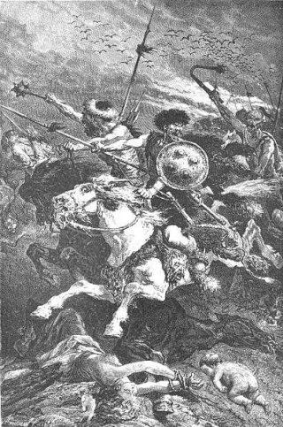 De slag bij Adrianopel in 378